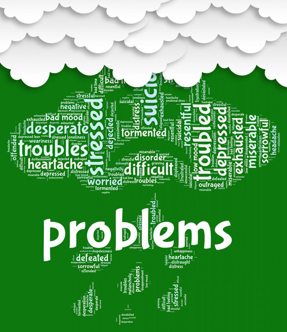 Download Free Stock HD Photo of Problems Word Shows Stumbling Block And Complication Online