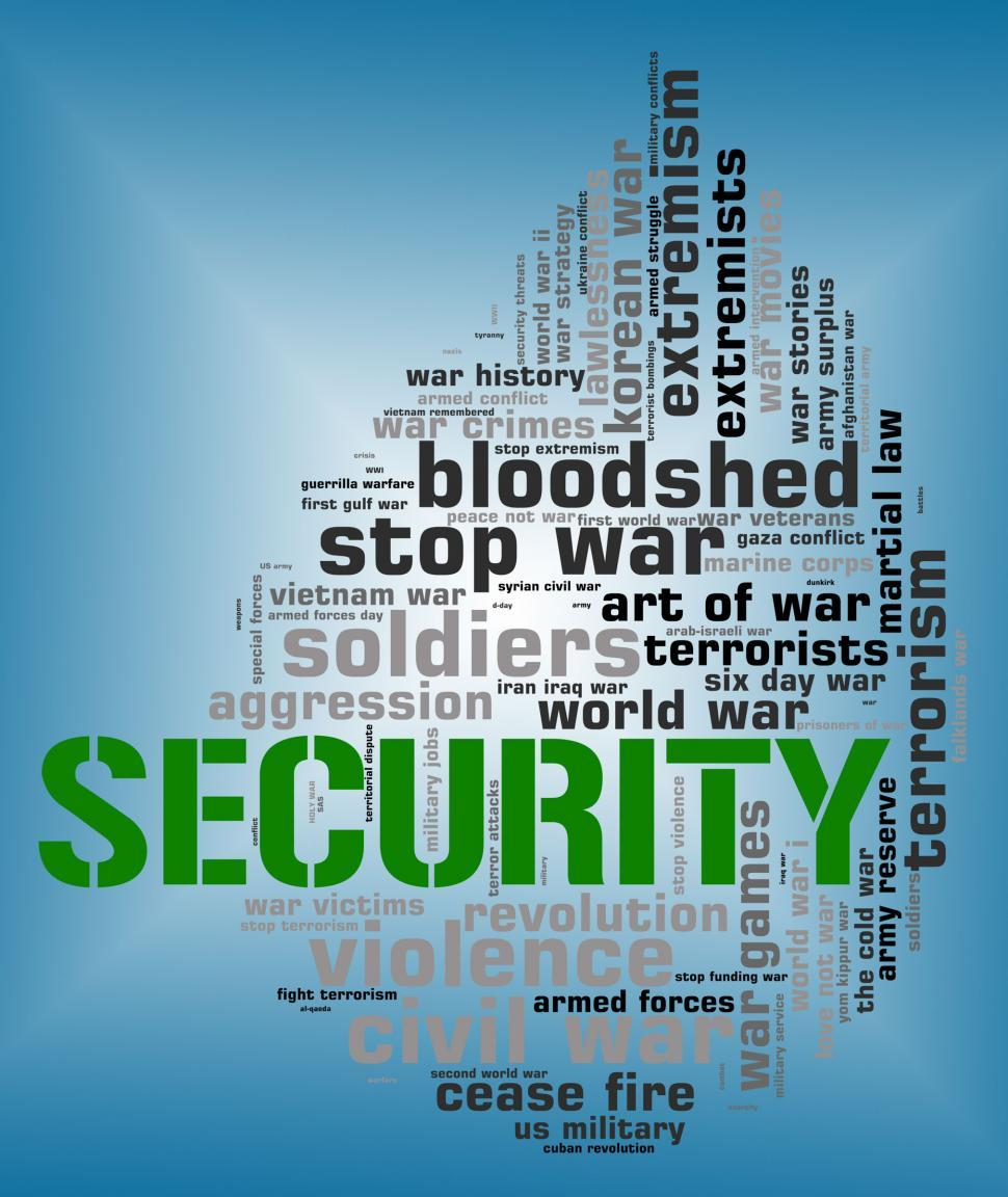 Download Free Stock HD Photo of Security Word Shows Encrypt Password And Wordcloud Online