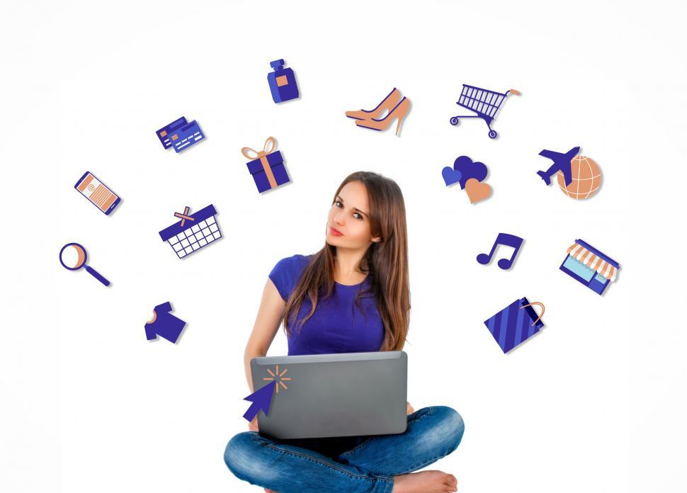 Download Free Stock HD Photo of Woman Shopping Online Online