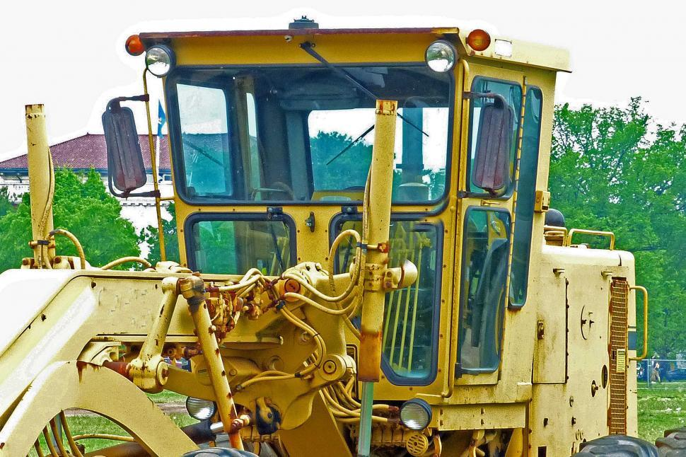 Download Free Stock HD Photo of Motor Grade Machine Cab Online