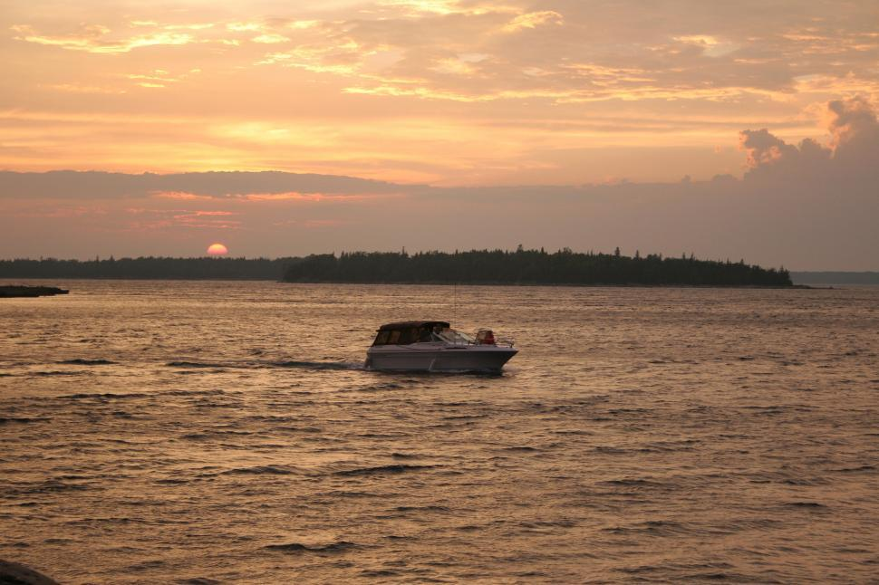 Download Free Stock HD Photo of Boat at Sunset Online