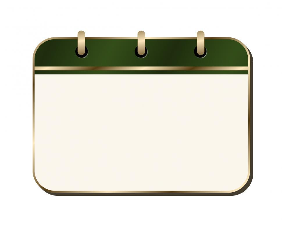 Download Free Stock HD Photo of Green and Gold Notepad  Online