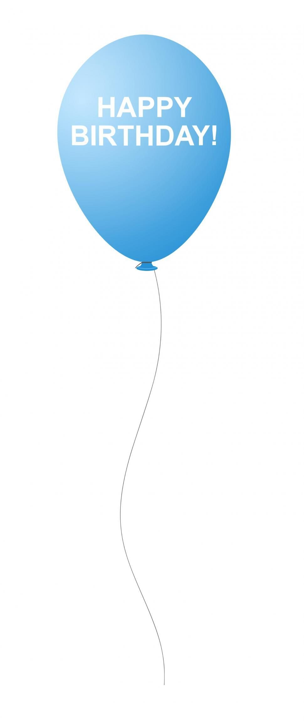 Download Free Stock HD Photo Of Blue Happy Birthday Balloon Online