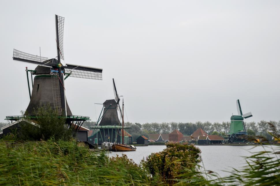 Download Free Stock HD Photo of Dutch Windmills  Online