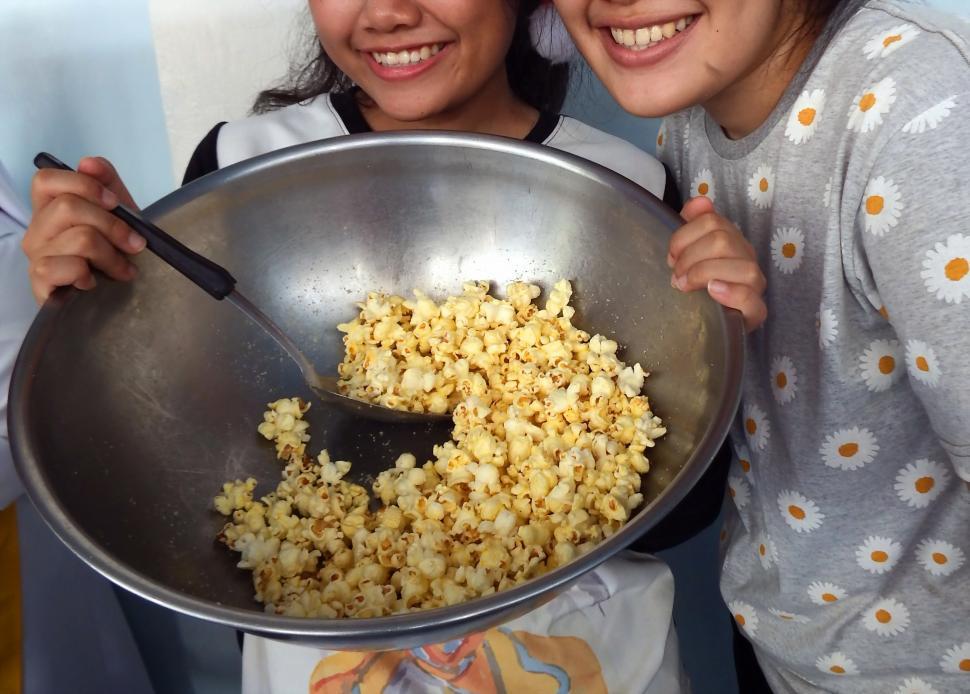 Download Free Stock HD Photo of Making Popcorn  Online