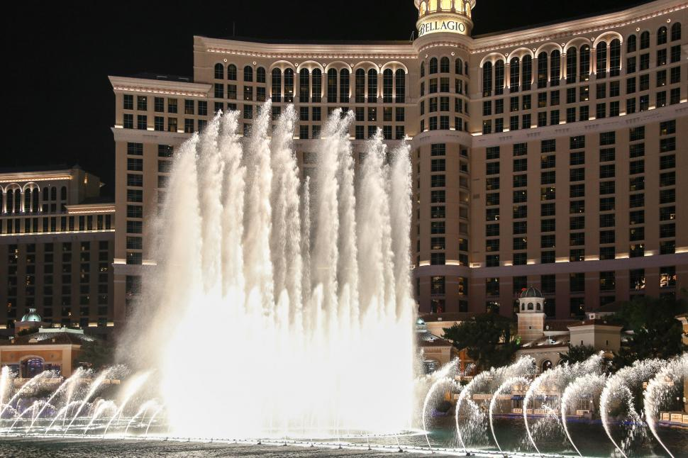 Download Free Stock HD Photo of Fountains of Bellagio in action Online