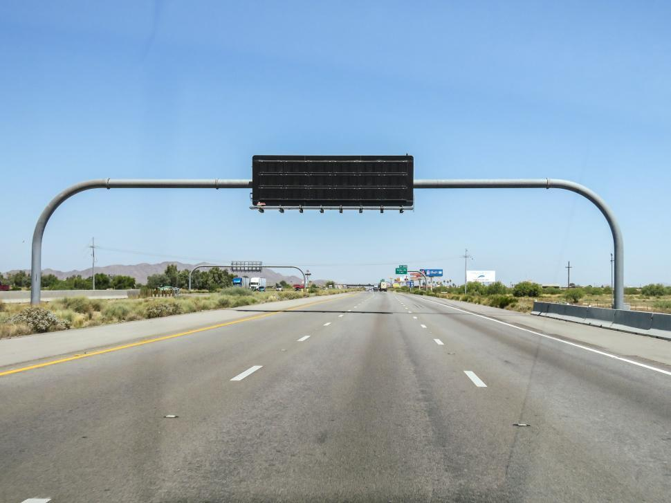 Download Free Stock HD Photo of Highway display sign Online