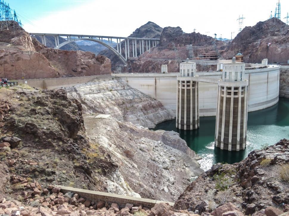 Download Free Stock HD Photo of Hoover Dam complex Online