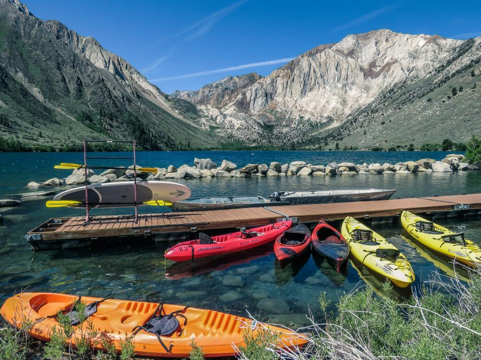 Download Free Stock HD Photo of Boats at Convict Lake Online