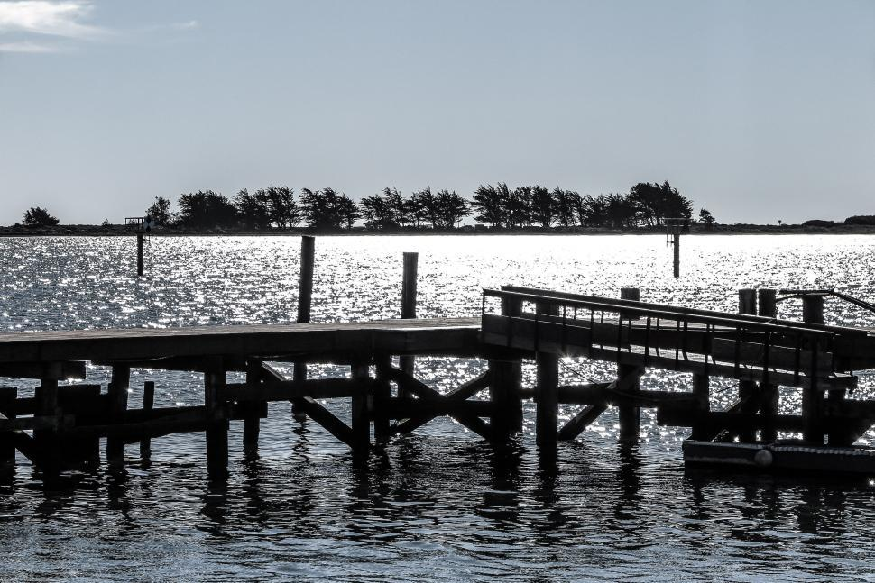 Download Free Stock HD Photo of Pier View in shimmering sun Online