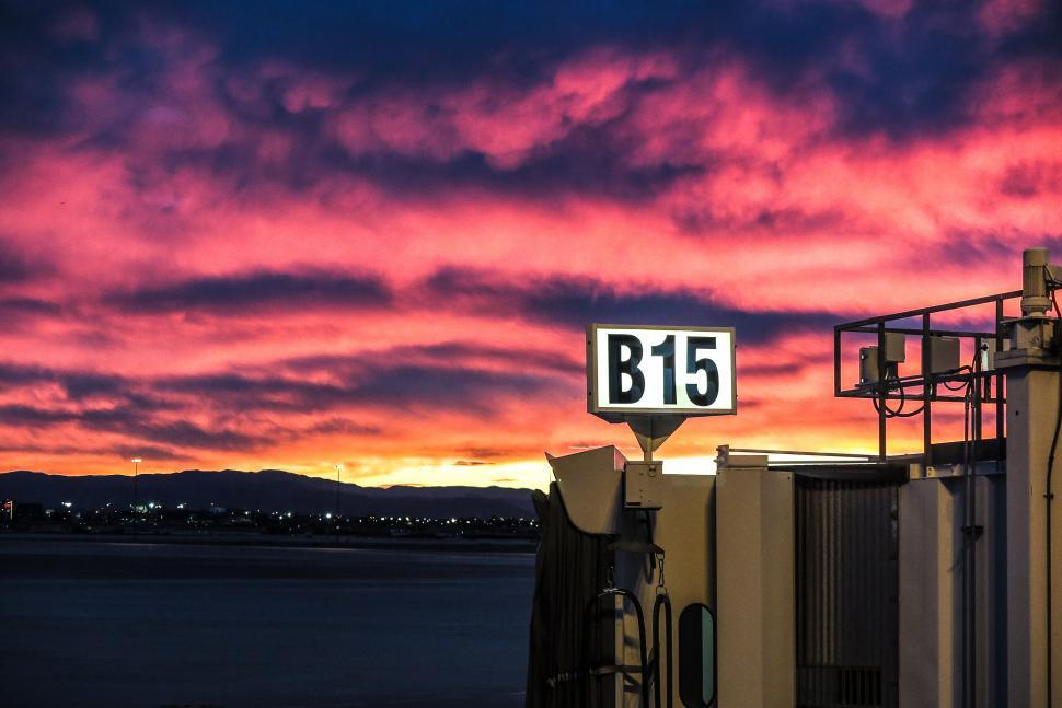 Download Free Stock HD Photo of Sunset at the Airport Online