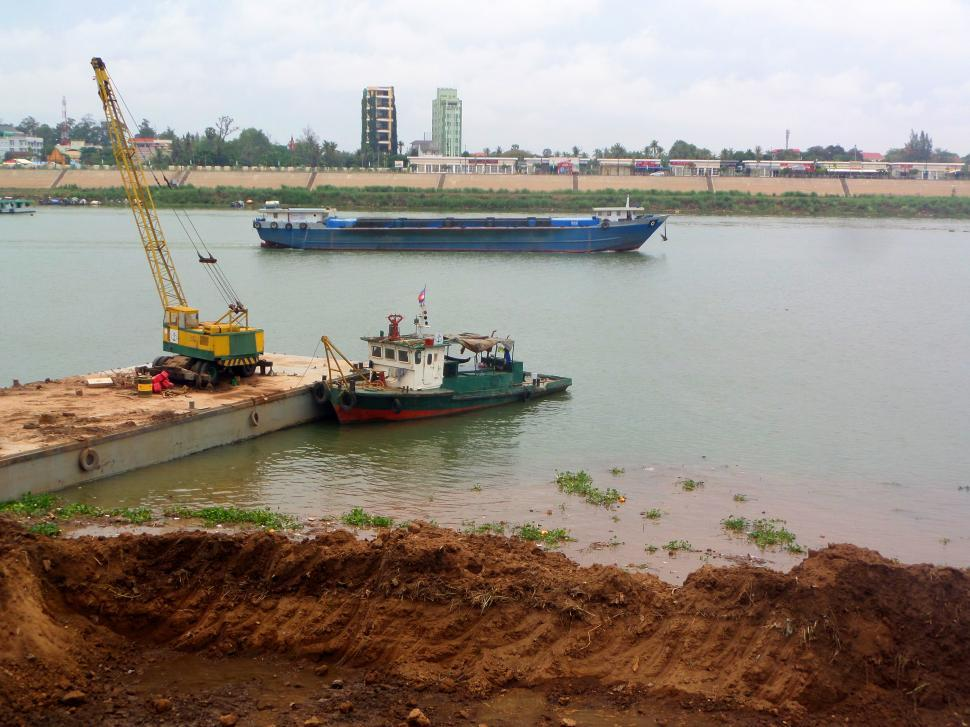 Download Free Stock HD Photo of Tonle Sap riverbank management Online