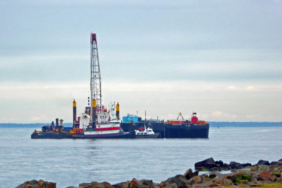 Download Free Stock HD Photo of Dredger Near Shore Online
