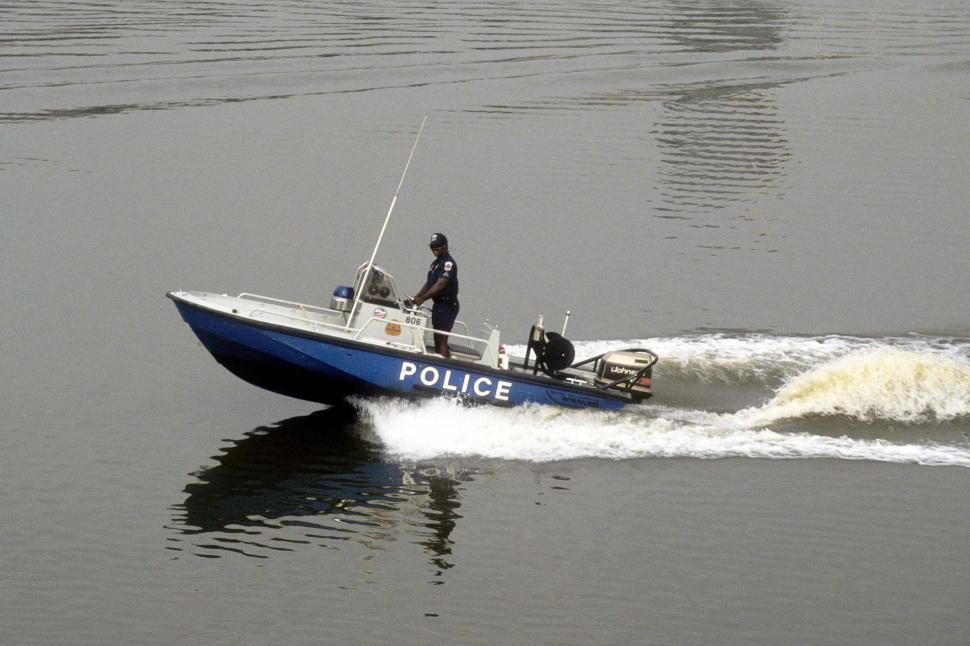 Download Free Stock HD Photo of Police Boat Online