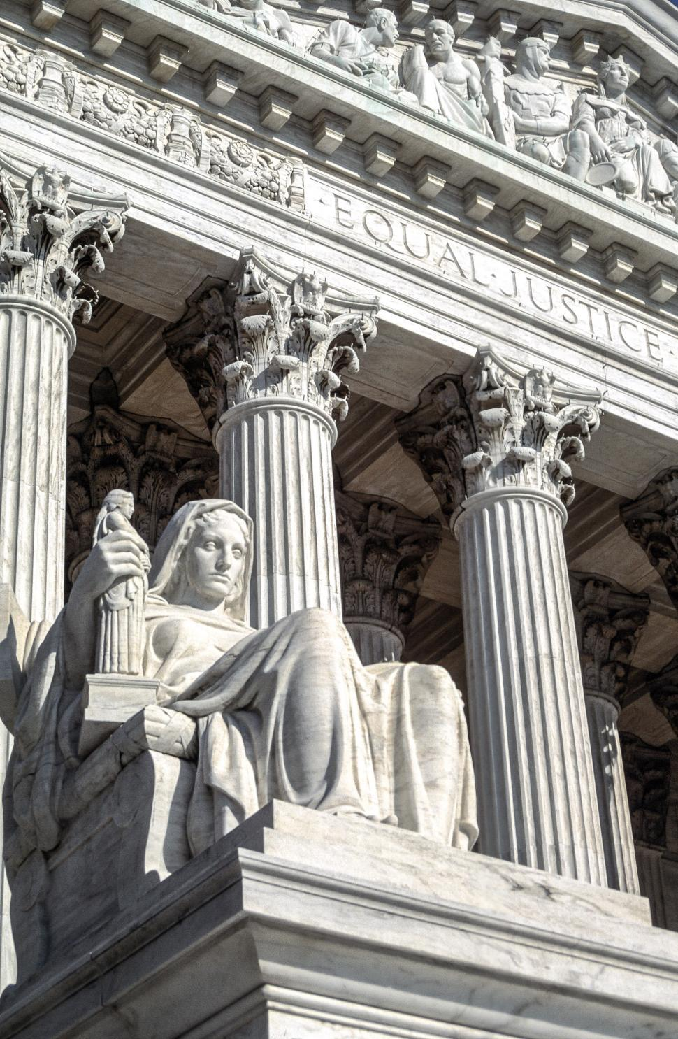 Download Free Stock HD Photo of The Contemplation of Justice statue Online