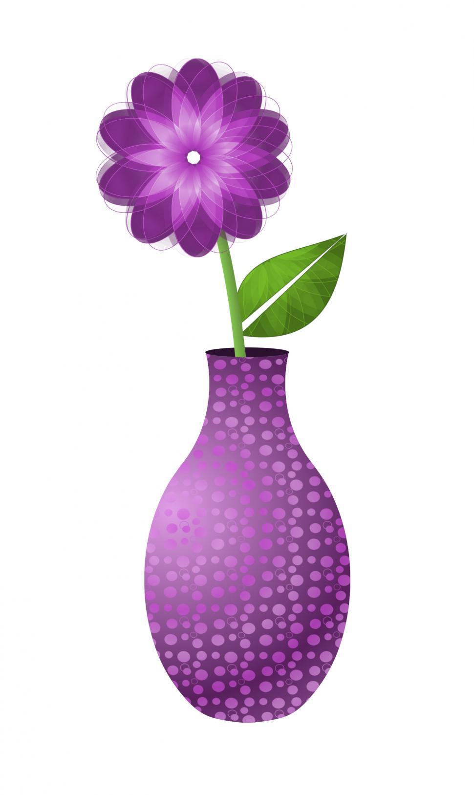 Download Free Stock HD Photo of Pink Abstract Flower in Vase  Online