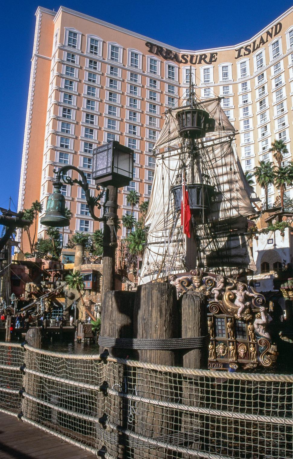 Download Free Stock HD Photo of Treasure Island Hotel and Casino Pirate Ship Online