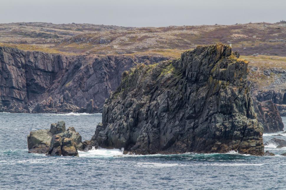 Download Free Stock HD Photo of Rock out crop in Atlantic Ocean Online
