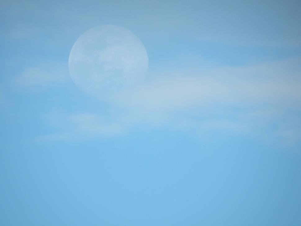 Download Free Stock HD Photo of Full Moon in Daylight  Online