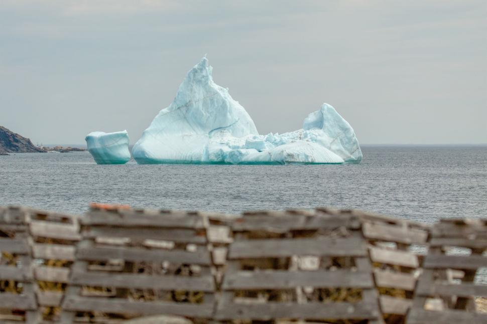 Download Free Stock HD Photo of Lobster Pots and Iceberg Online