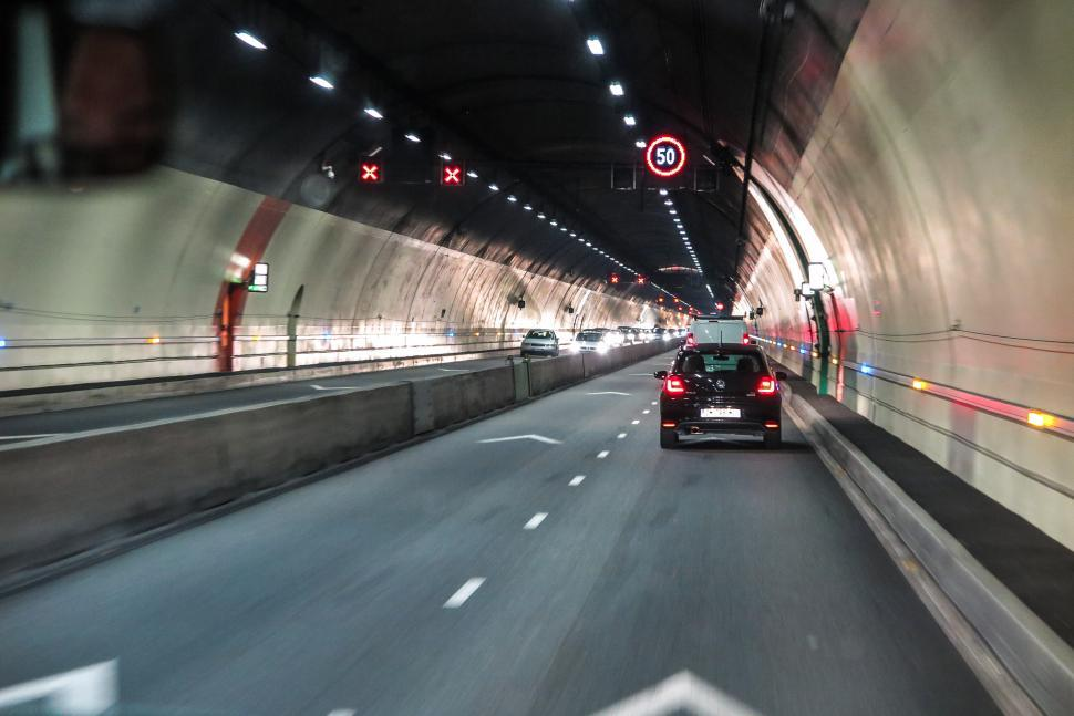 Download Free Stock HD Photo of Driving in a tunnel Online