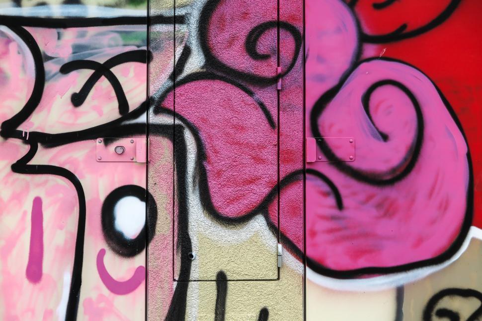 Download Free Stock HD Photo of Pink graffiti Online