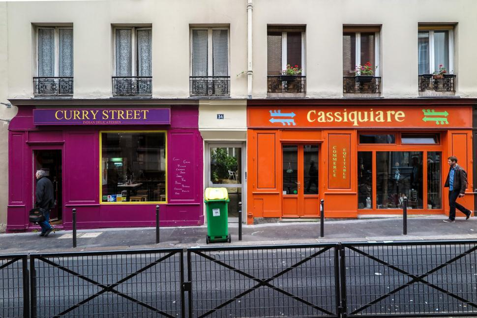 Download Free Stock HD Photo of Colorful stores in Paris Online