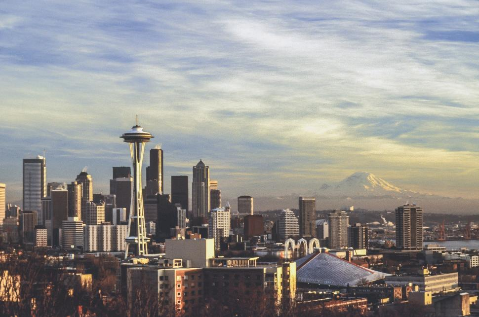 Download Free Stock HD Photo of City of Seattle Space Needle and Skyline Online
