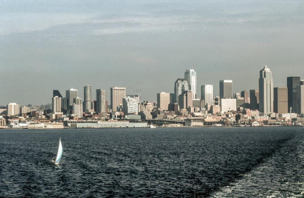 Download Free Stock HD Photo of Seattle from the water Online
