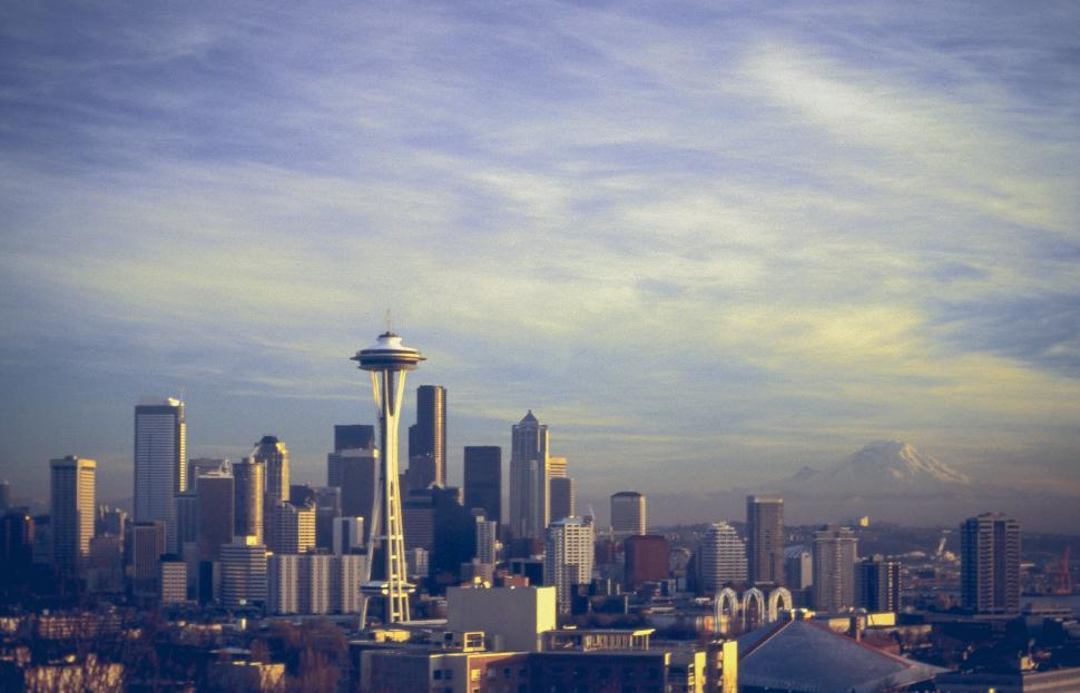 Download Free Stock HD Photo of Seattle with Space Needle Online