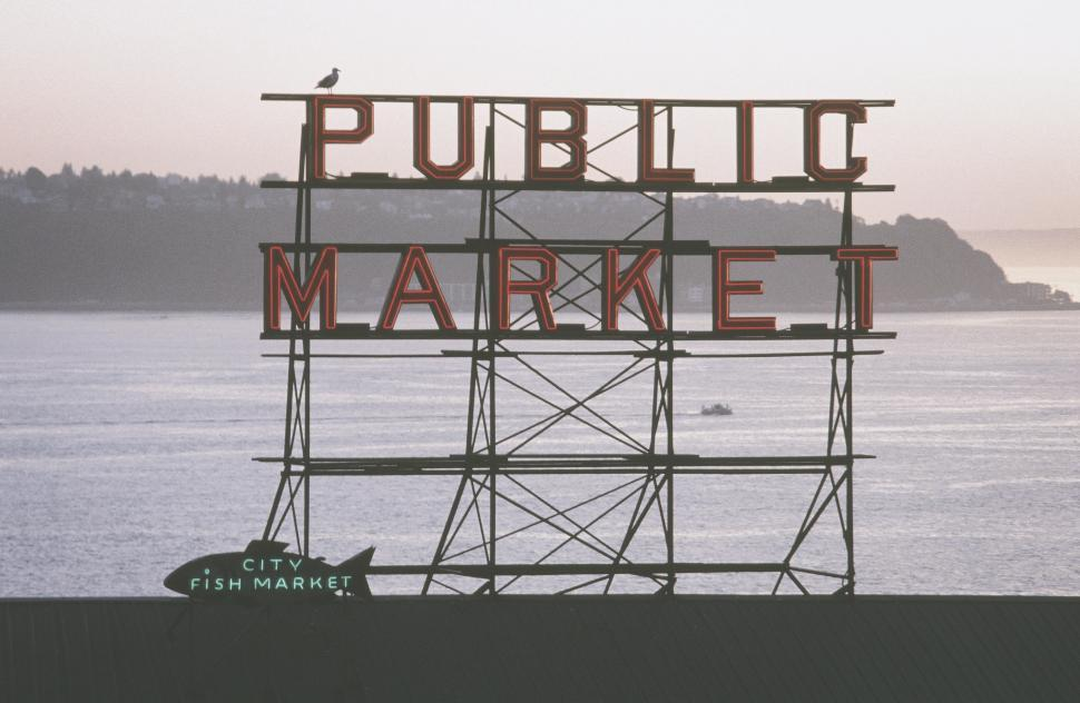 Download Free Stock HD Photo of Public Market Center in Seattle Online