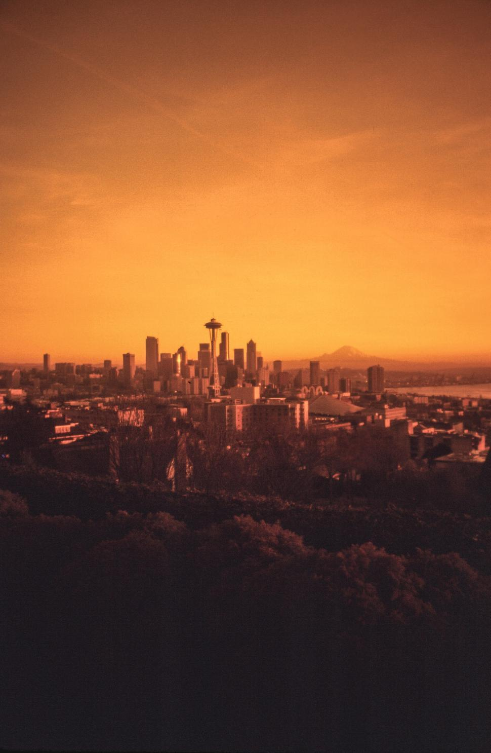 Download Free Stock HD Photo of Distant Seattle Skyline Online