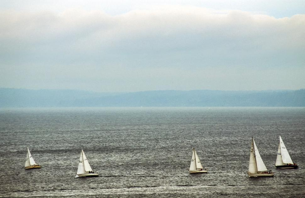 Download Free Stock HD Photo of Group of sailboats Online