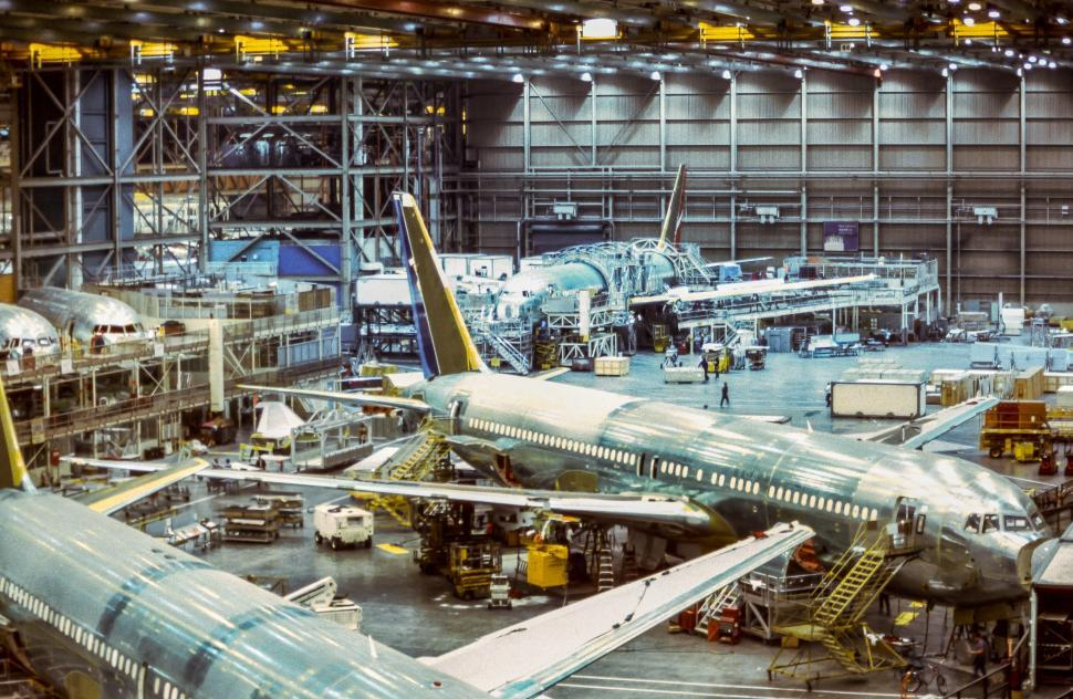 Download Free Stock HD Photo of Aircraft Manufacturing Facility in Seattle Online