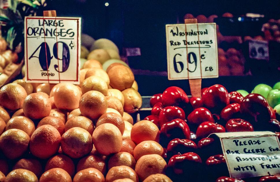 Download Free Stock HD Photo of Fruit market in Seattle Online