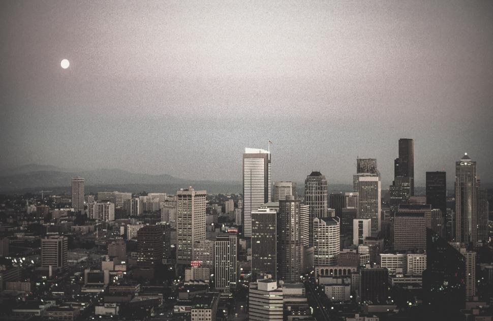 Download Free Stock HD Photo of Vintage view of Seattle Online