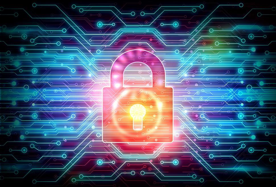 Download Free Stock HD Photo of Digital Padlock on Circuit Background - Web Security Concept Online