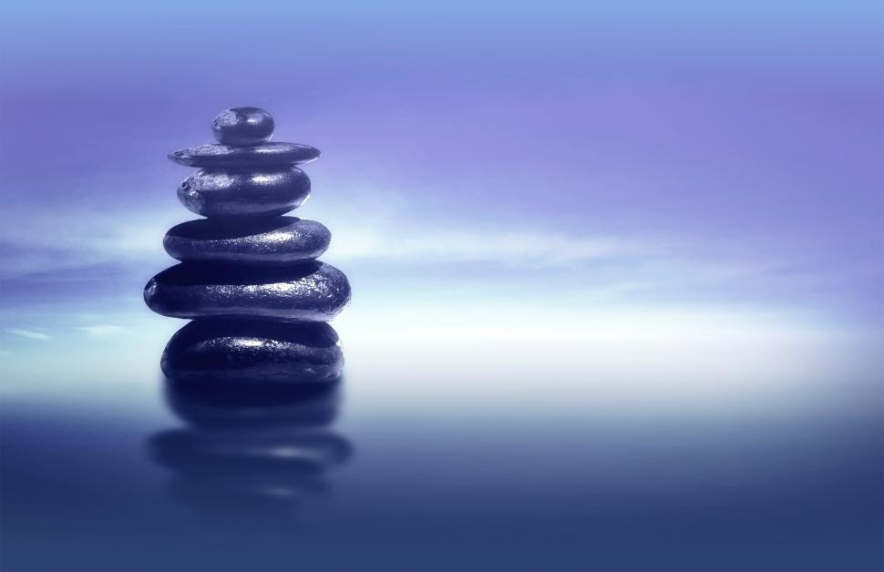 Download Free Stock HD Photo of Zen Stones - Feng Shui and Harmony Concept with Copyspace Online