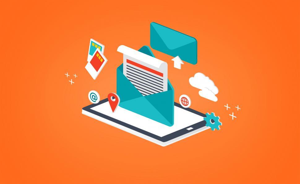 Download Free Stock HD Photo of Concept of Sending and Receiving E-mail - Isometric Design Online