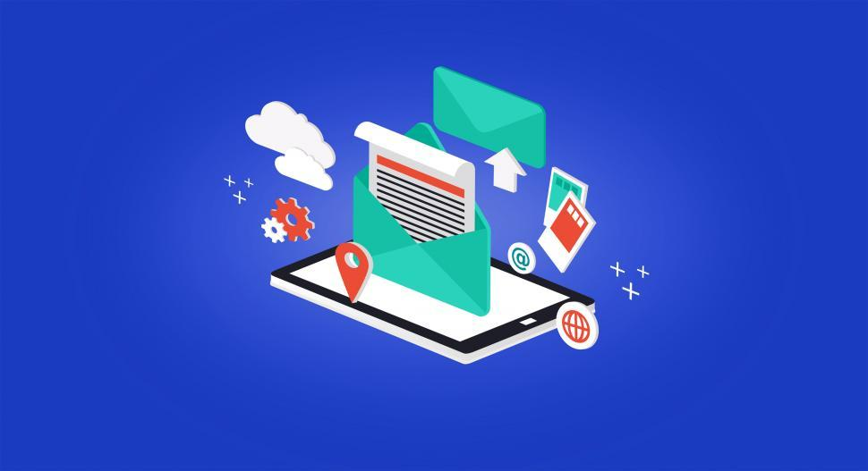 Download Free Stock HD Photo of Receiving and Sending E-mail - Concept Online