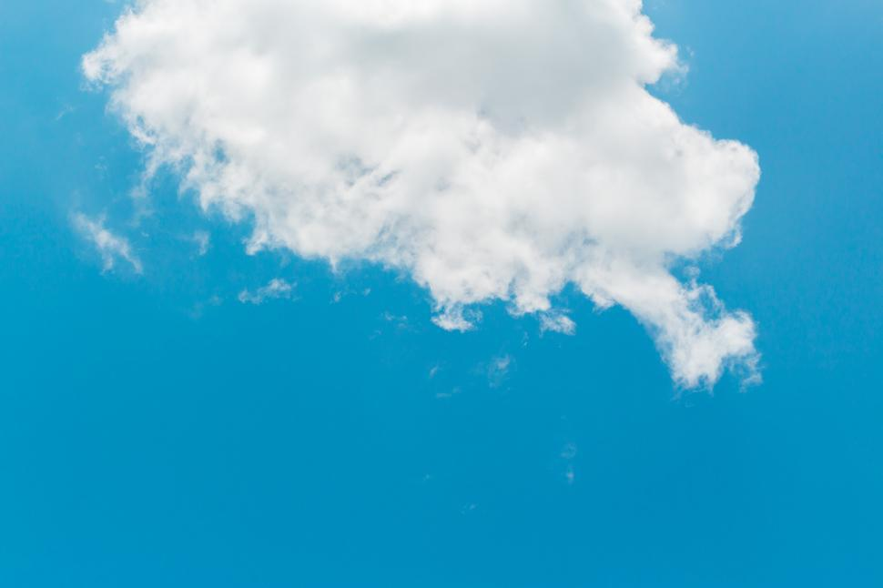 Download Free Stock HD Photo of blue sky with cloud closeup  Online