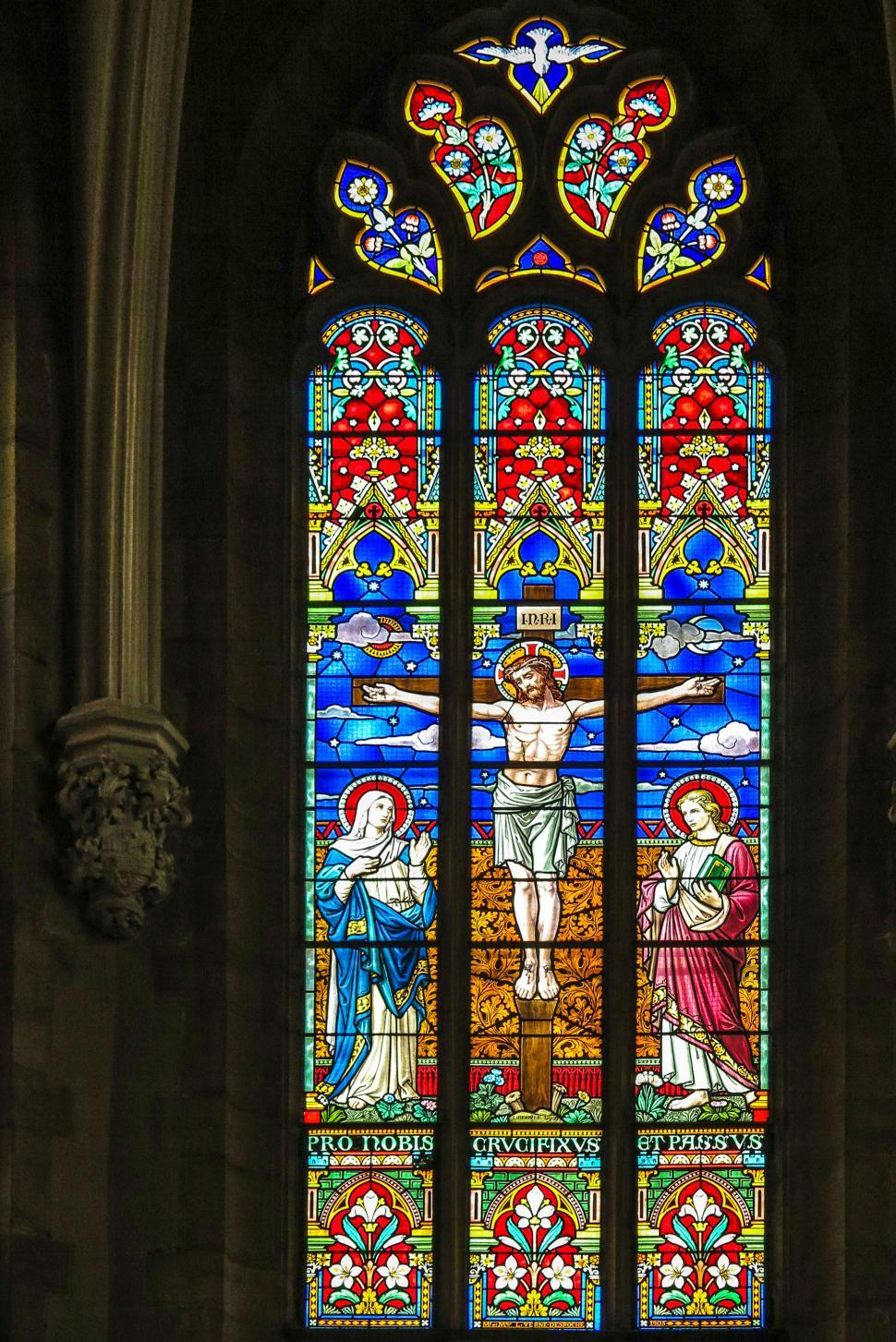 Download Free Stock HD Photo of Stained glass scene Online