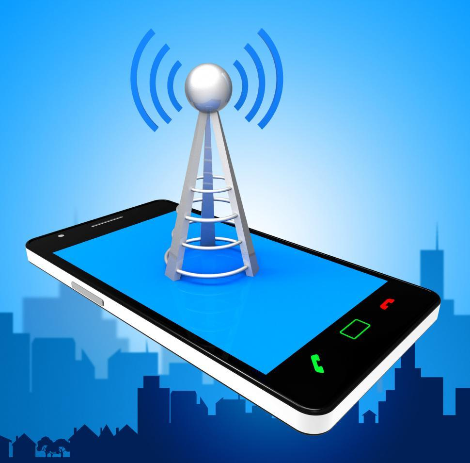 Download Free Stock HD Photo of Smartphone Wifi Indicates World Wide Web And Antenna Online
