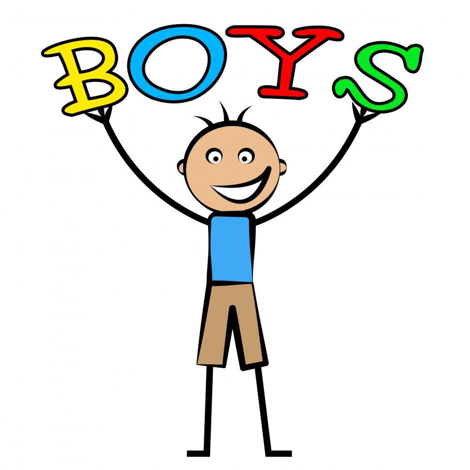 Download Free Stock HD Photo of Boys Word Shows Son Youngsters And Kid Online