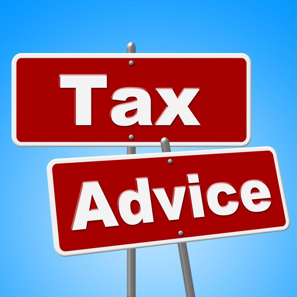 Download Free Stock HD Photo of Tax Advice Signs Represents Help Faq And Instructions Online