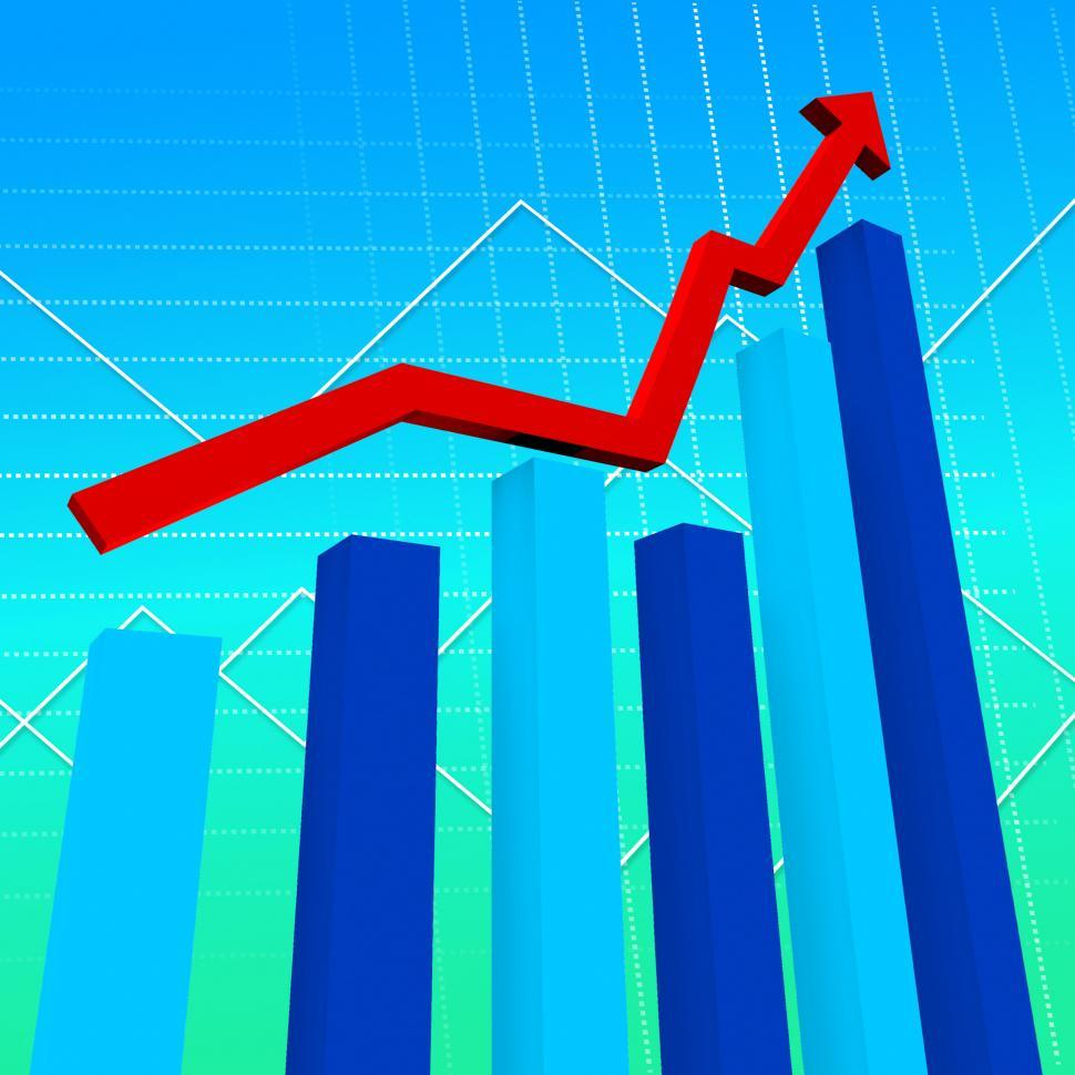 Download Free Stock HD Photo of Business Graph Represents Data Graphs And Finance Online