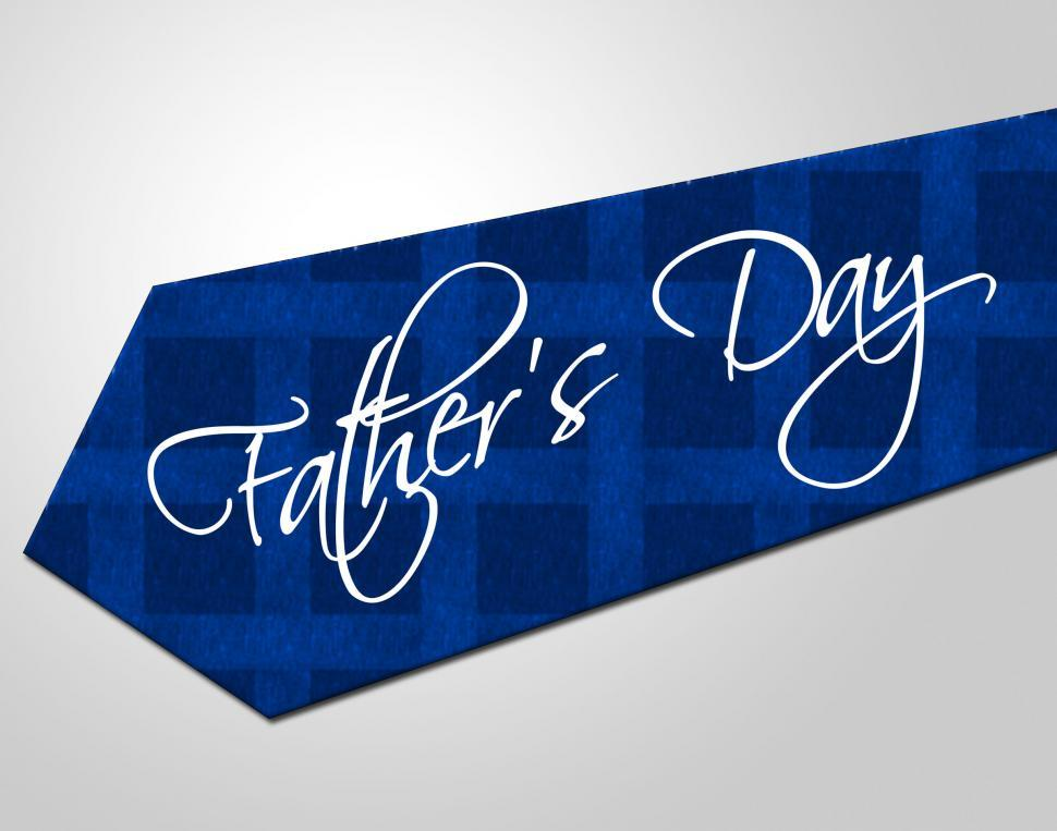 Download Free Stock HD Photo of Fathers Day Tie Means Greeting Joy And Fun Online