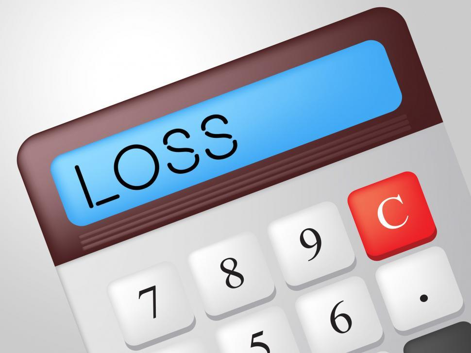 Download Free Stock HD Photo of Loss Calculator Represents Commerce Losing And Finances Online