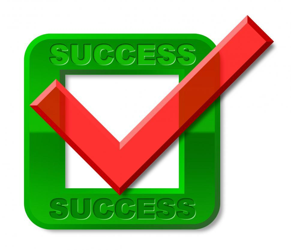 Download Free Stock HD Photo of Success Tick Indicates Triumph Prevail And Victors Online