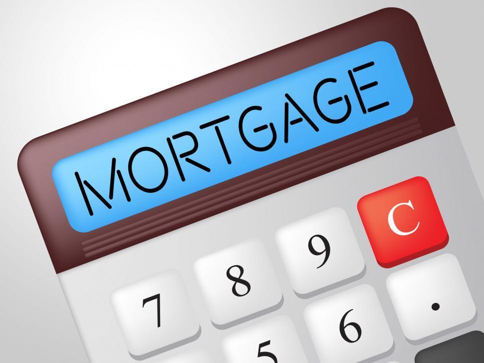 get free stock photos of mortgage calculator indicates borrow money